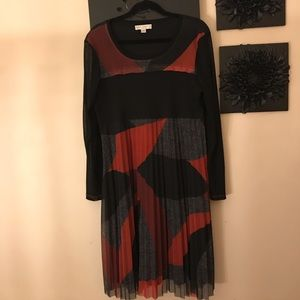 Black&red geo Boo Radley Australia designer dress